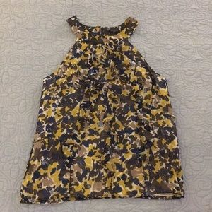 Ann Taylor Shell with Front Ruffle